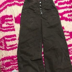 Free People Jeans - NWOT Free People brown cropped jeans size 25